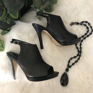 White House Black Market Black High Heels